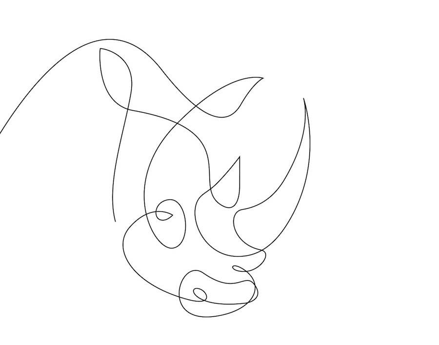 Line Art Animals : New series of animals in one line by differantly animal