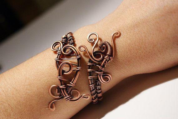 Copper Bracelet Wire Wred Jewelry Handmade Women Anniversary Gift