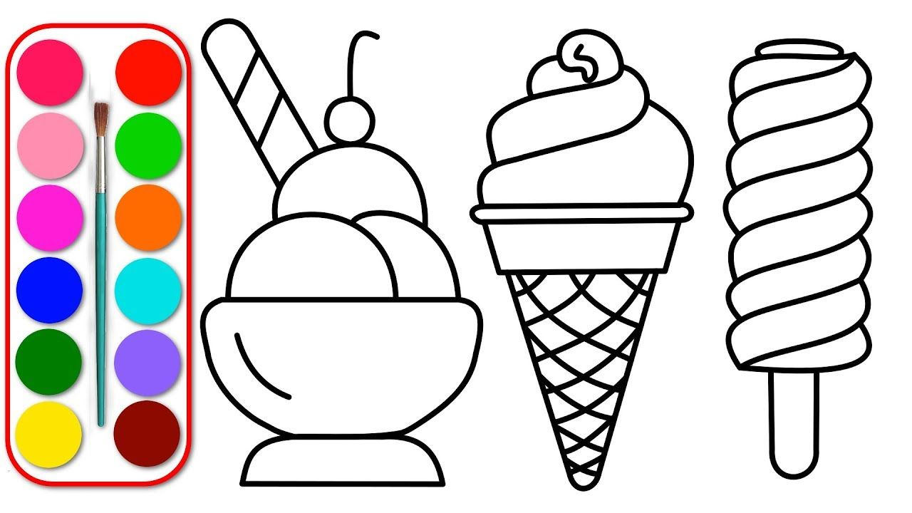 Dibuja Y Colorea Helados Paginas Para Colorear Para Ninos Bebes Y Nino Coloring For Kids Coloring Pages Coloring Pages For Kids
