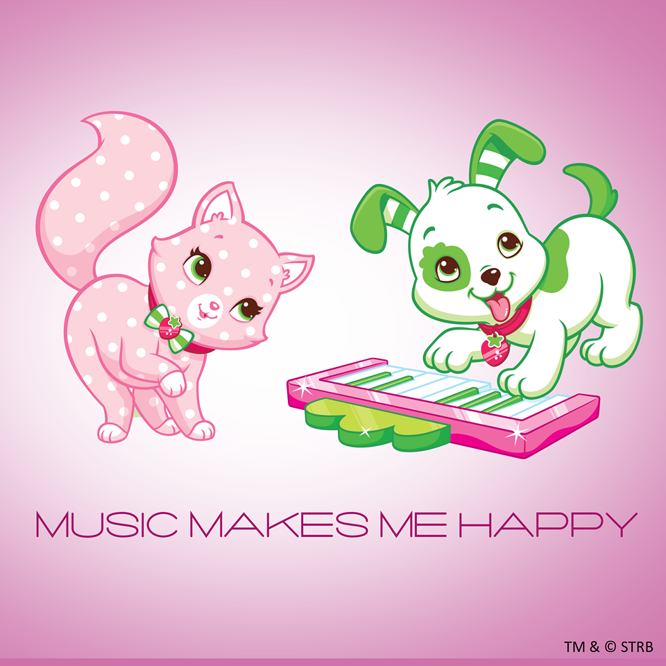Music Makes Me Happy With Custard And Pupcake Moranguinho Bebe Moranguinho Festa Moranguinho