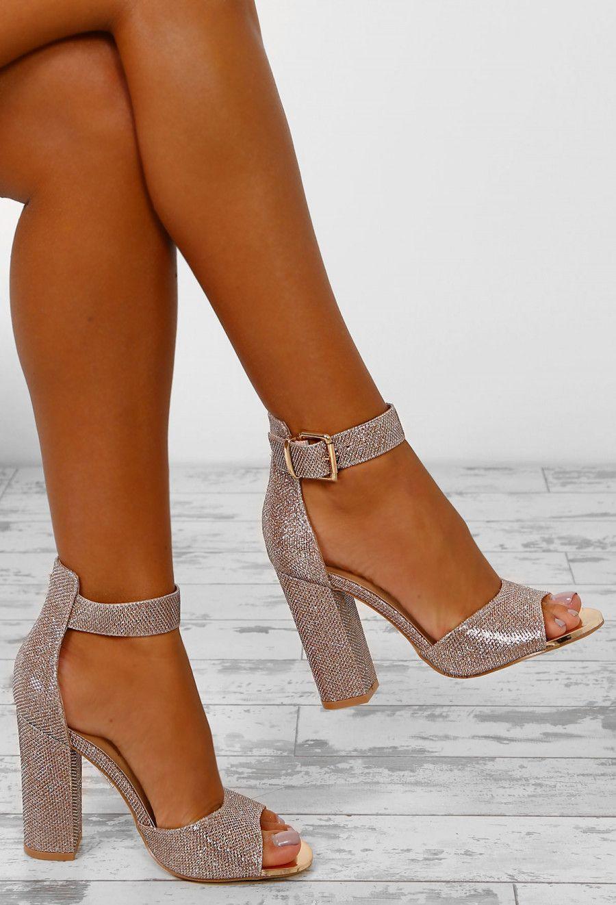 d253bf7a7ca250 Gracen Gold Lurex Block Heels - UK 3 in 2019