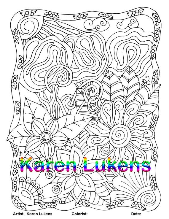 Dreamscape 1 Adult Coloring Book Page Printable Instant Download