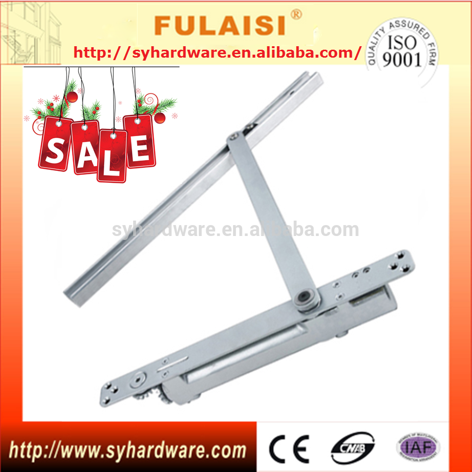 Fulaisi Aluminum Automatic Heavy Duty Door Closer Piston Types 150kg Closed Doors Aluminum Heavy Duty