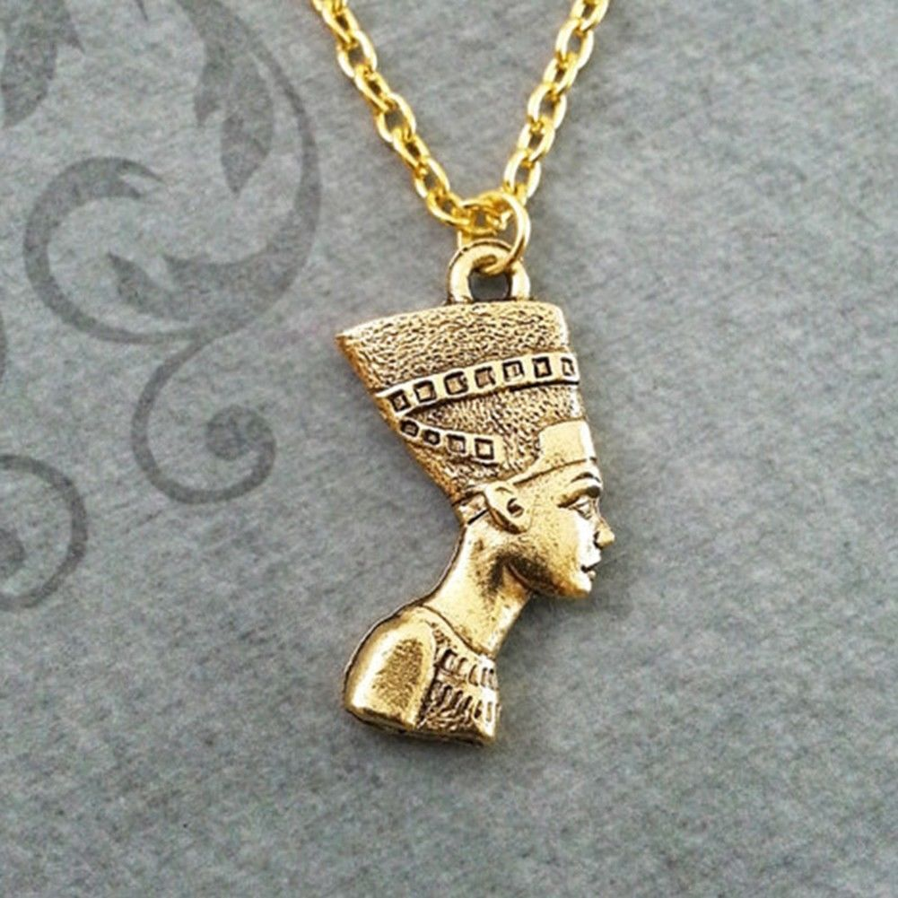Goldsilver nefertiti pendant egyptian queen pharaoh necklace link goldsilver nefertiti pendant egyptian queen pharaoh necklace link chain 45cm mozeypictures Choice Image