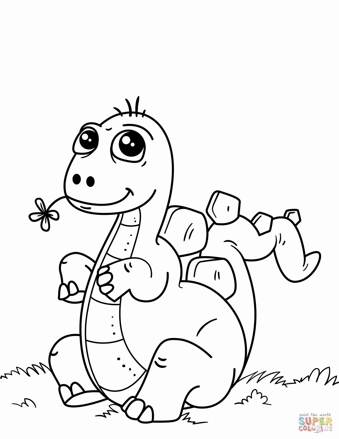 25++ Cute easy dinosaur coloring pages inspirations