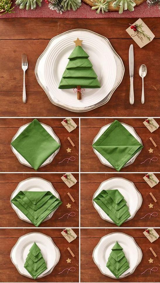 Wie eine Serviette das Schönste auf deinem Weihnachtstisch wird #tischdekorationweihnachten Als Baum: So faltest du die perfekte Serviette für Weihnachten  Festlich, kreativ aber doch ganz einfach zum Selbermachen: Wir haben die beste DIY-Tischdeko-Idee für dich zu Weihnachten! Und du brauchst nur eine Serviette zum Falten!  #weihnachten #christmas #diy #weihnachtsbaum #serviette #falten #anleitung #deko #tischdeko #tannenbaum #inspiration #selbermachen #baum #christbaum #xmastabledecorations