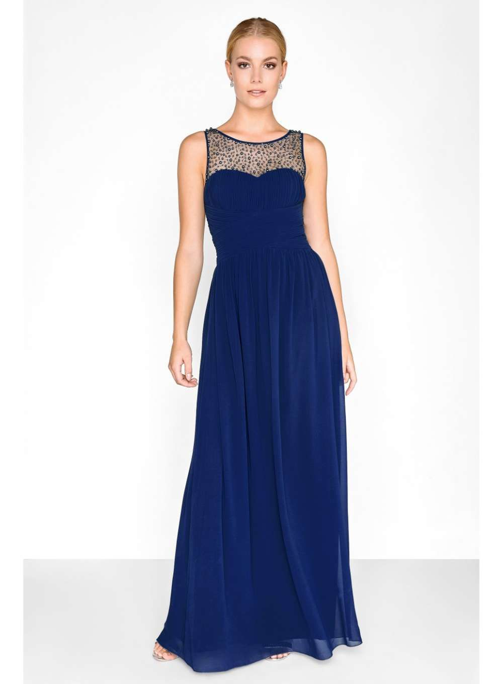 89a54b7a50c Little Mistress Navy Embellished Maxi Dress - View All New In - New ...