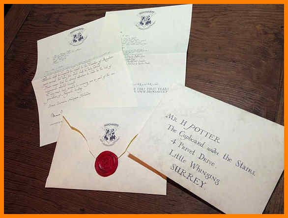 Hogwarts Acceptance Letter Envelope Template Printable and