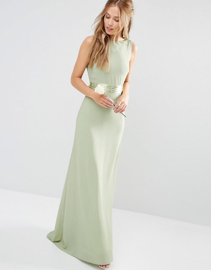 Earth green cocktail dress