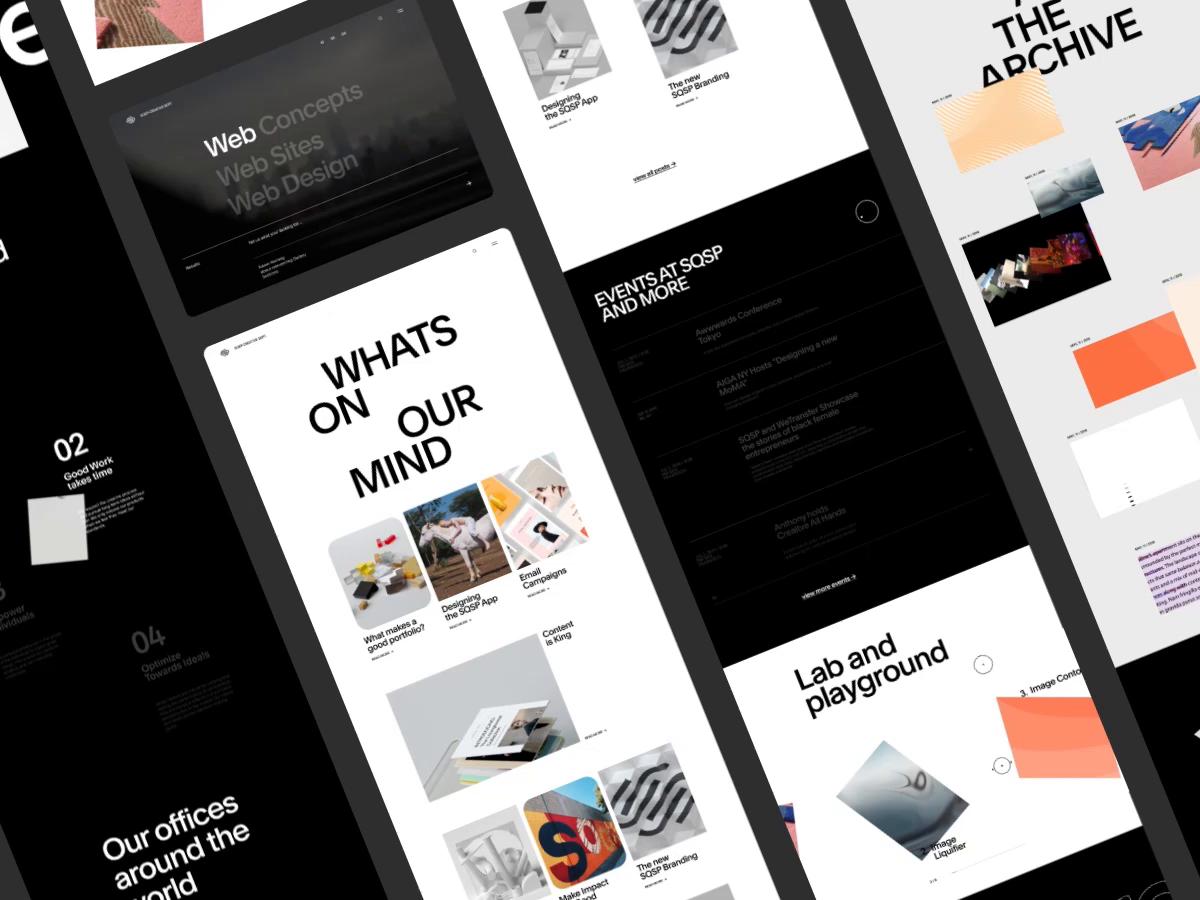 Sqsp Creative Dept By Marvin Schwaibold In 2020 Web Design Concept Web Design