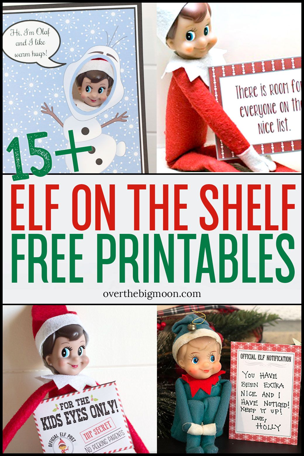 Elf on the Shelf Printables & Ideas Message from santa