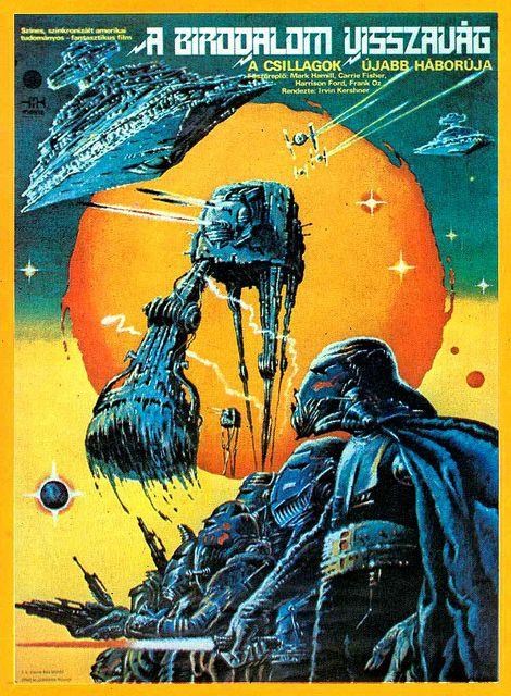 Star Wars Empire Strikes Back Hungarian Film Poster Star