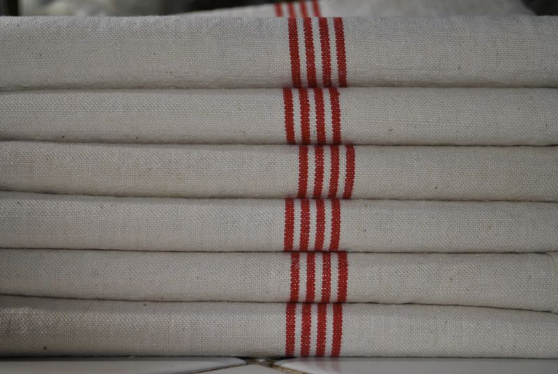 """Beautiful antique French linen cloths,   """"torchons""""."""