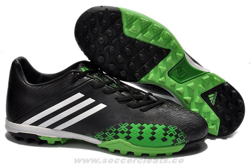 best service 5f7fc 36fad adidas predator Absolado LZ TRX TF Turf Soccer Shoes Black Running  White Ray Green Soccer Cleats