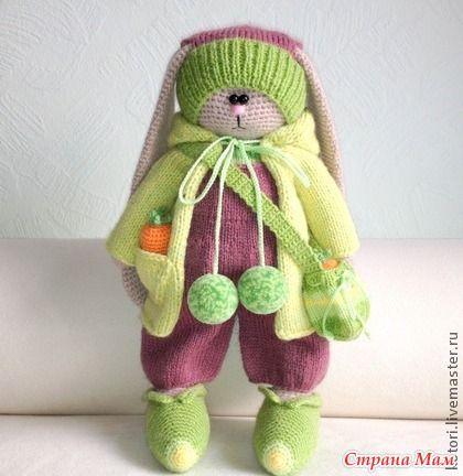 вязаные тильды зайцы крючком мастер класс Crochet Toys вязание