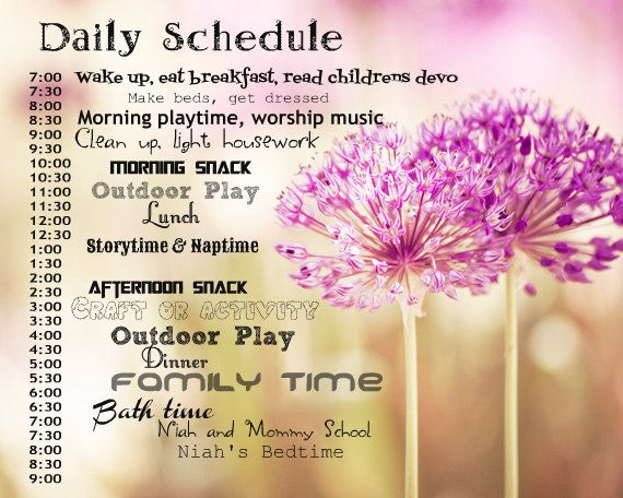 Daily Schedule For A Stay At Home Mom Of A Two Year Old Pick A