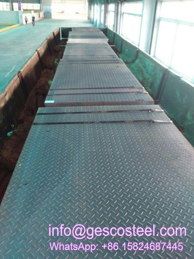 A36 Ss400 A283c S235jr S355jr Jo J2 A572 A573 Q420 Q460 Checkered Plate Astm A36 Checkered Steel Plate Carbon Steel Checkered Pl Steel Plate Carbon Steel Steel