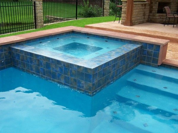 Image Of Striking Classic Pool Tile Atlanta With 6x6 Clear