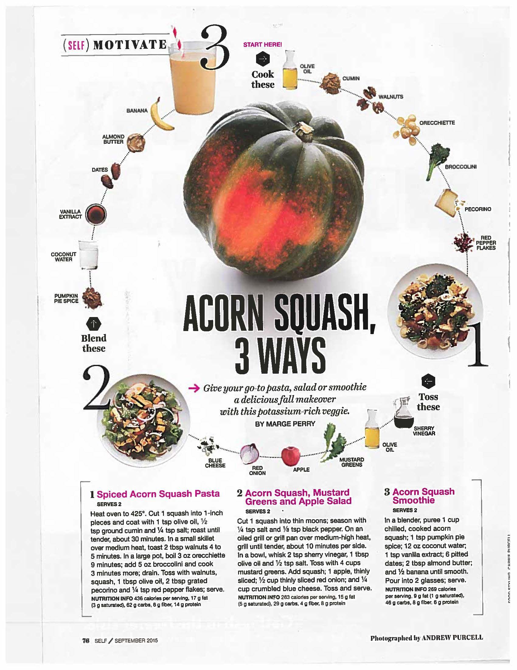 Self Mag Acorn Squash Recipes