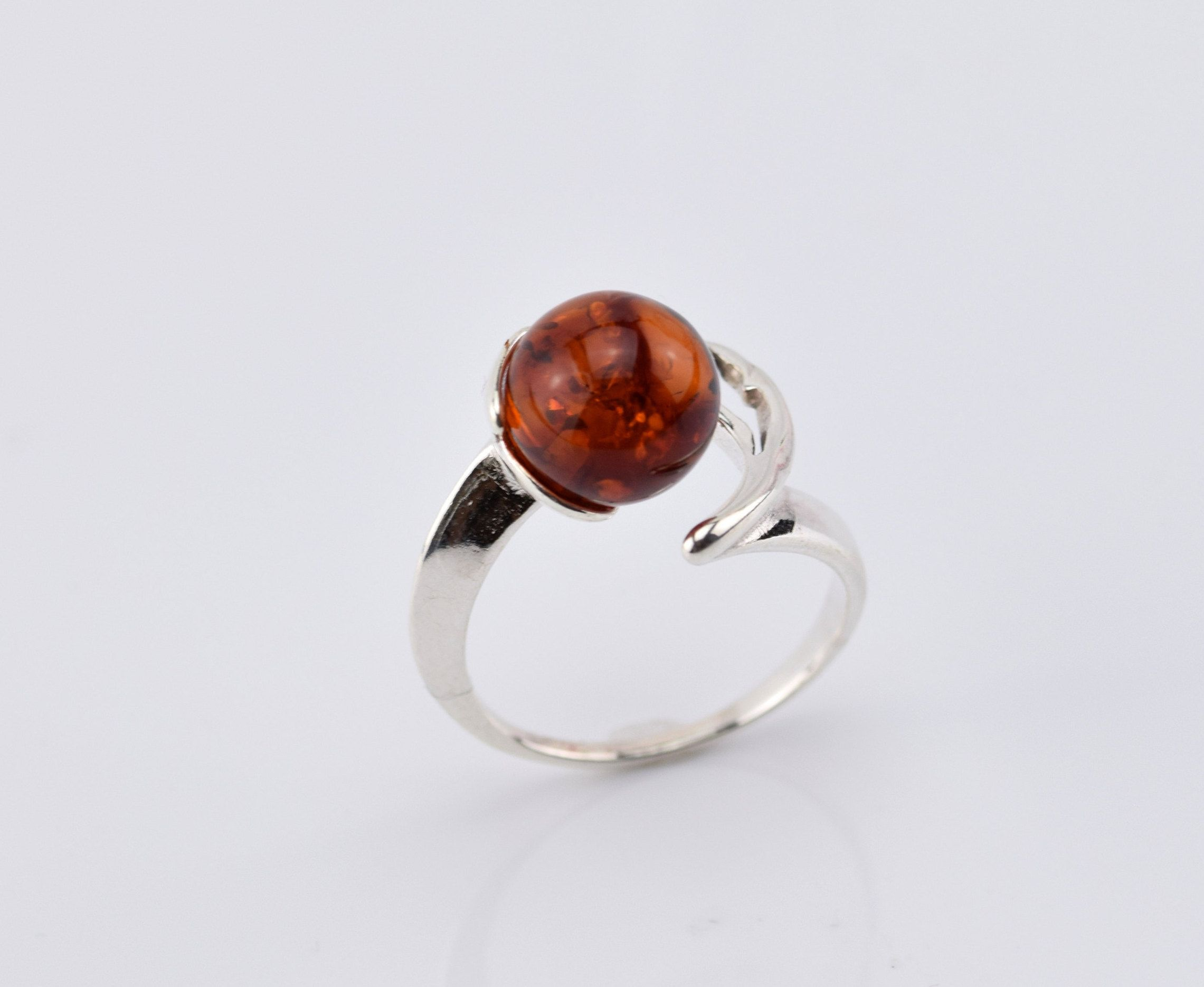 organic amber ring, honey amber ring midi ring oval ring sterling silver and natural baltic amber ring amber ring baltic amber ring