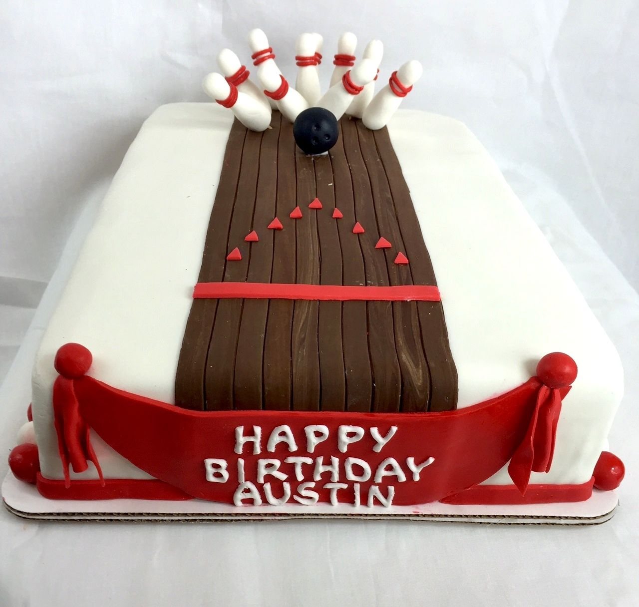 Another view from a recent bowling birthday cake we made