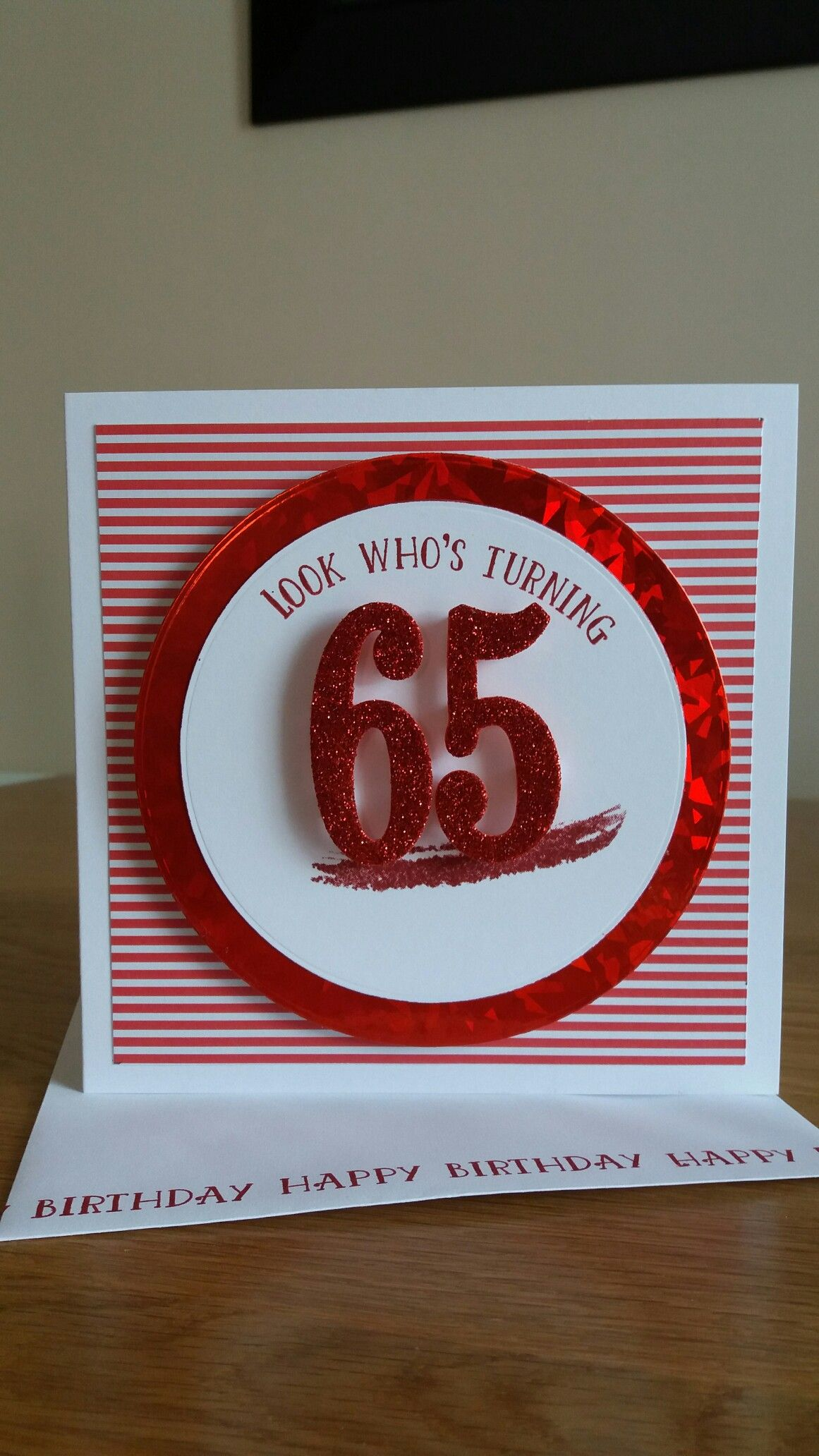 65th Birthday Card Using Stpin Up Number Of Years Set 65th Birthday Cards 65th Birthday Cards