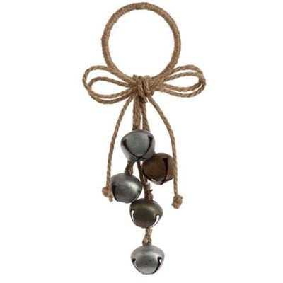 RAZ Jingle Bell Cluster Christmas Ornament Tan/Gold/Silver Made of