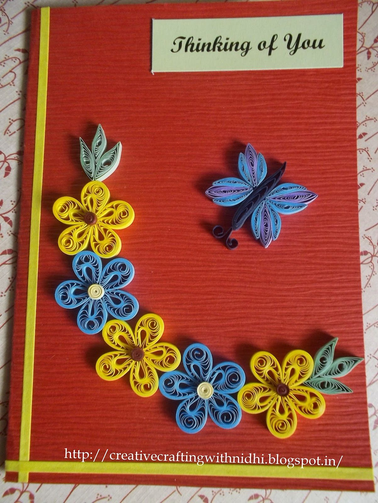 Paper quilling patterns art and craft work new paper quilling new paper quilling greeting cards kristyandbryce Gallery