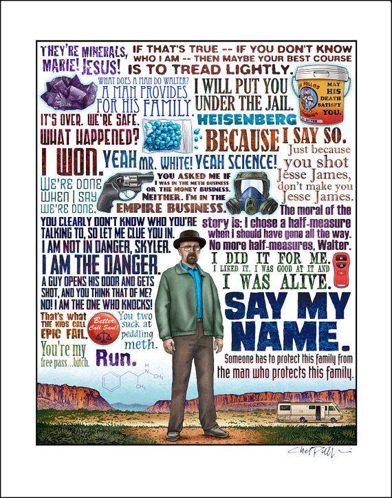 Breaking Bad Quotes Illustrazioni Film E Cinema