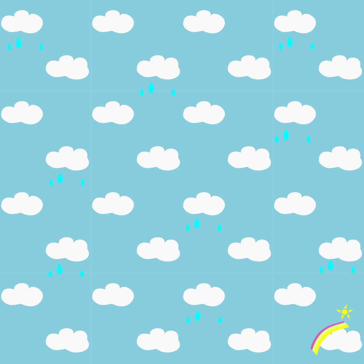 Scrapbook ideas rainbow - Free Printable Rainy Clouds And Rainbow Pattern Paper