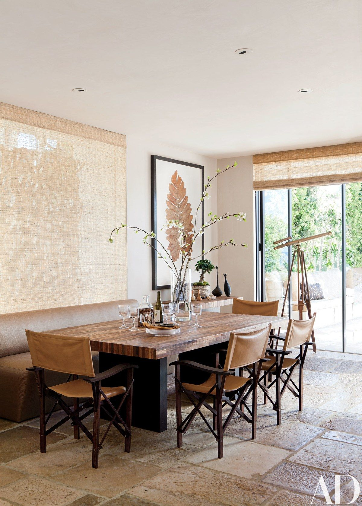Hallberg And Wiseley Designed The Dining Table Directors Chairs Are By Christian Liaigre LiaigreStone FlooringDirectors
