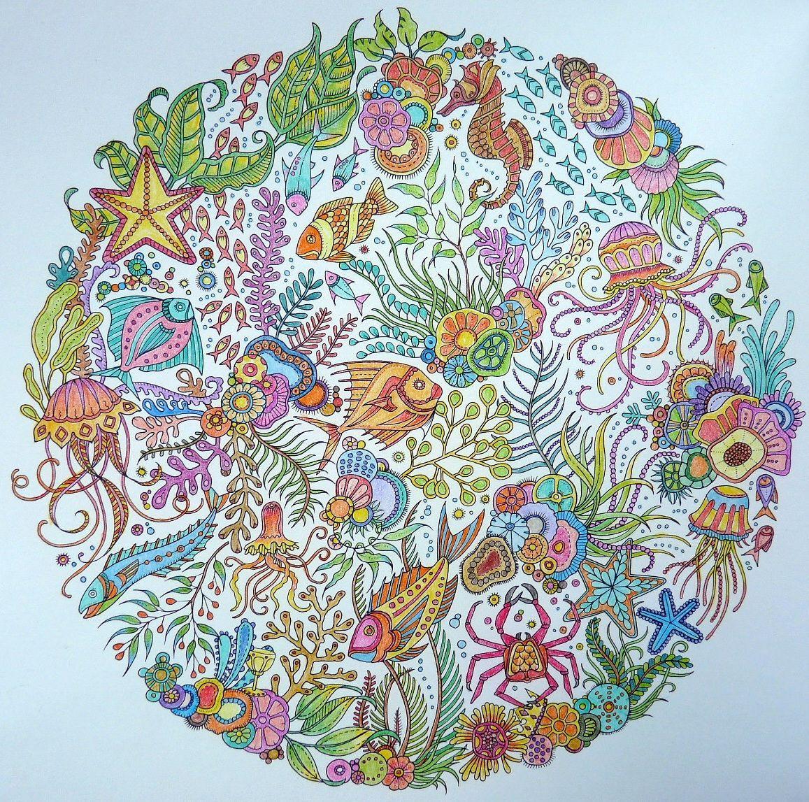 Lost Ocean Page 1 Gekleurd Door Marianne In Het Boek De Verborgen Oceaan Kunst Inspiratie Oceaan Kunst