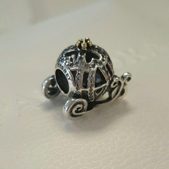 Who Sells Pandora Jewelry: Authentic Pandora Cinderella Pumpkin Coach Charm .925