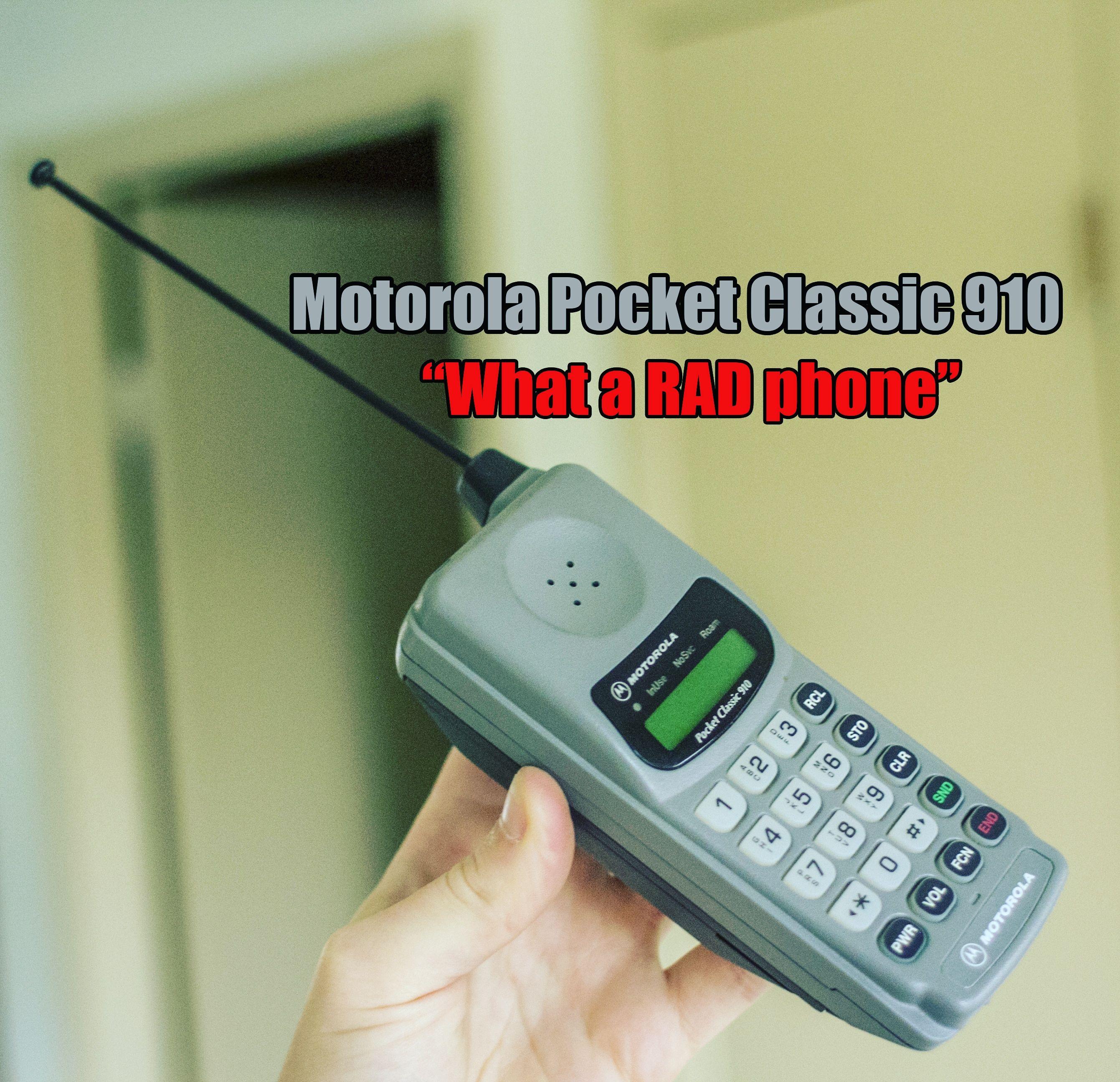 Motorola Pocket Classic 910 Classic Phones Cell Phone Brick Phone