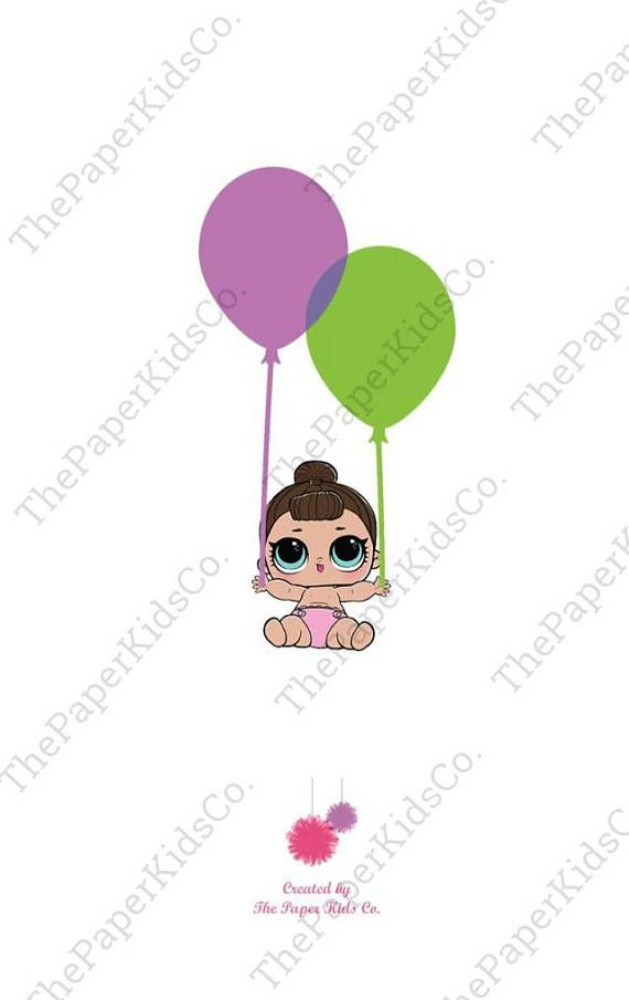 Lol Surprise Dolls Custom Made Birthday Card For Her Fiestas