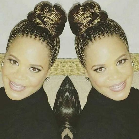 1 Stunning Micro Braids Updo Once You Have Your Gorgeous Braids