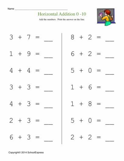 Math Worksheets, Free Addition Worksheets, Story Problems - horizontal multiplication facts worksheets