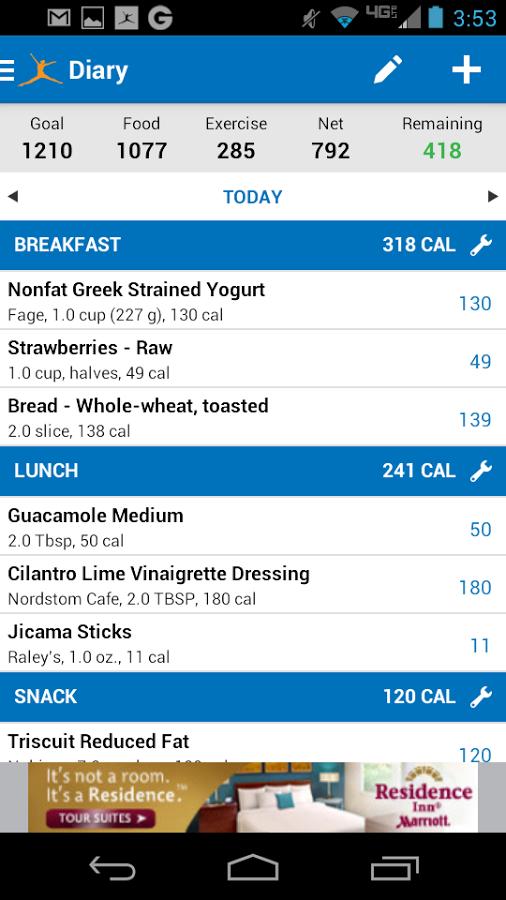 Calorie Counter MyFitnessPal v3.6.1.apk Calorie