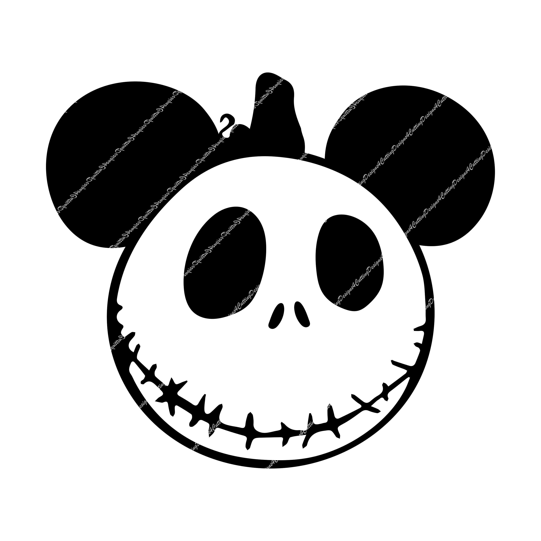 Jack Skellington Pumpkin Mickey Head, great for Cricut or