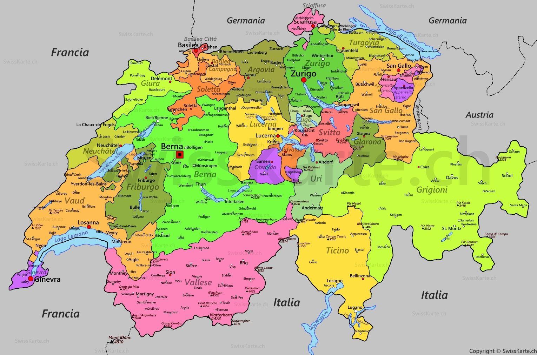 Karte Schweiz Von Debora Schweizer Auf Schule In 2020 Landkarte