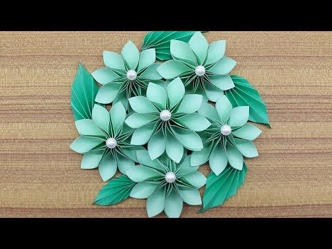 How to make a Paper Flowers Bouquet | Making Paper flower step by step (Complete Tutorial) - YouTube #easypaperflowers