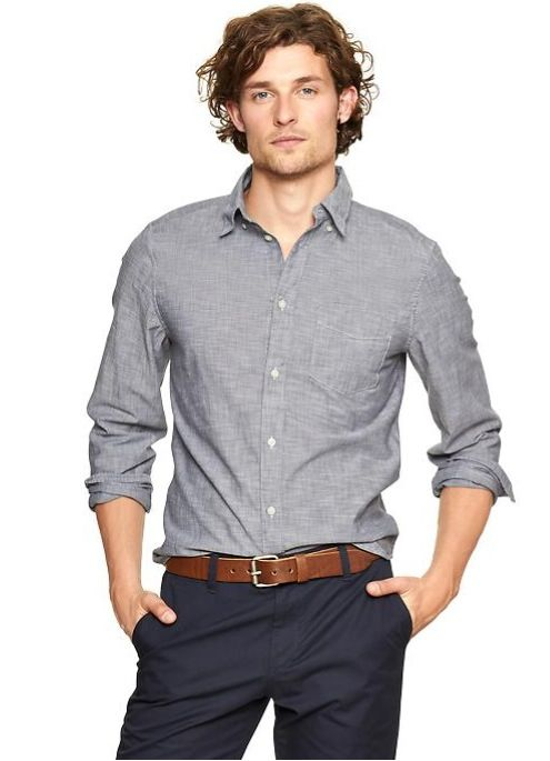 Brown Casual Dress Shirts for Men