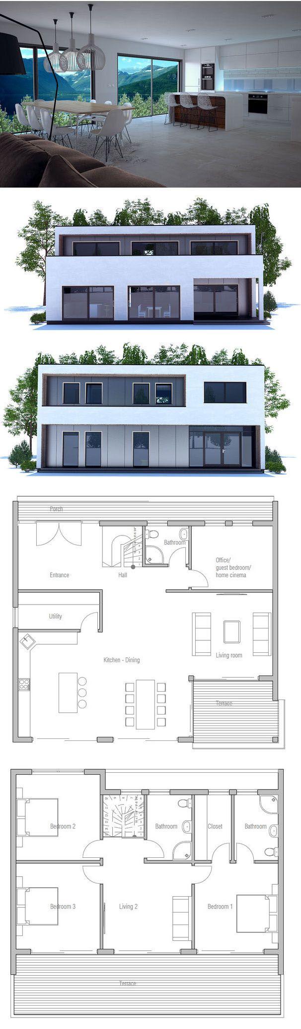 modern minimalist home plans architektur haus grundriss haus und haus pl ne. Black Bedroom Furniture Sets. Home Design Ideas
