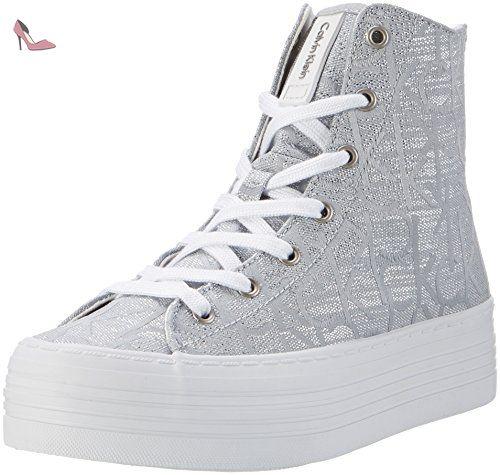 Zabrina Metallic Jacquard, Baskets Femme, Argent (Light Silver), 41 EUCalvin Klein Jeans
