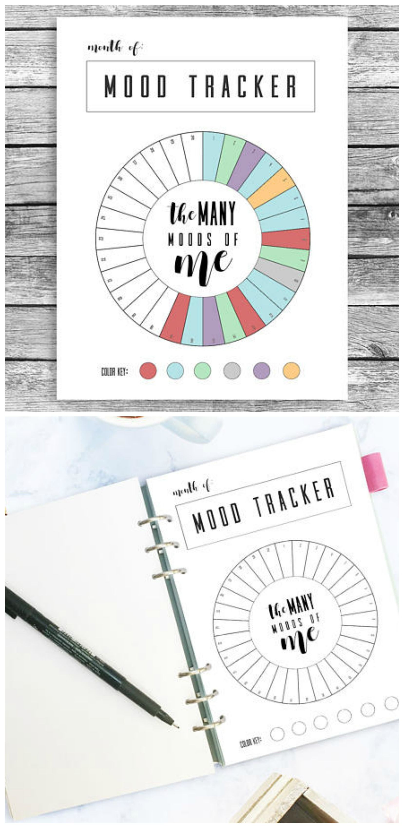 Monthly Mood Tracker Printable