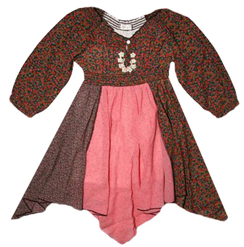 """Mimi & Maggie """"Mini Flowers Handkerchief"""" Dress"""