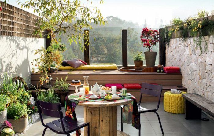 ▷ 1001 + ideas de decoración de terrazas con encanto Pequeña - decoracion de terrazas con plantas