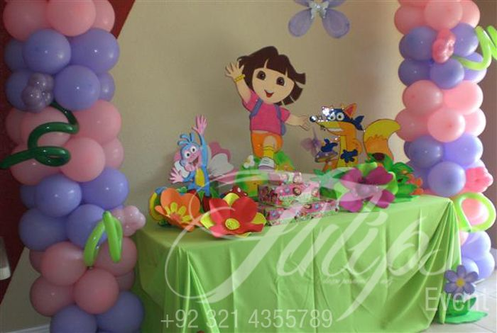 Dora Birthday Party Decorations dora party Pinterest Birthdays