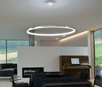 Deckenle Industriedesign circolo slim circolo mini by sattler 48 8 diam ring diameter