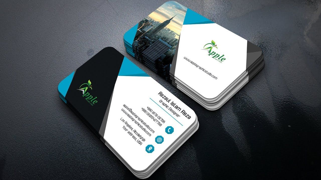Modern Business card Design Tutorial in Photoshop | Business Card ...